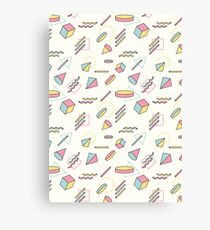 The 90's (Shapes) Canvas Print
