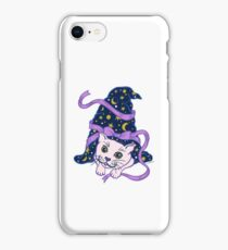 Halloween Cute Cat under Sorcerer's Witch Hat iPhone Case/Skin
