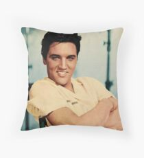 ELVIS PRESLEY - COLOURIZED - 1958 Throw Pillow