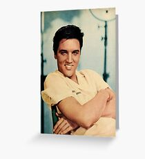 ELVIS PRESLEY - COLOURIZED - 1958 Greeting Card