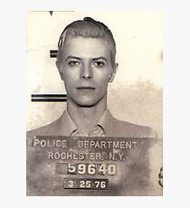 DAVID BOWIE MUGSHOT  Photographic Print