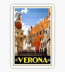 Vintage Verona Italy Travel Poster Sticker