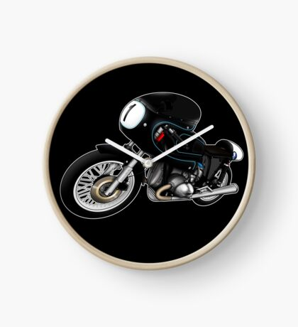 Motorcycle T-shirts Art: Black on Black Clock