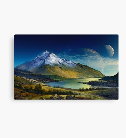 Highland Home Canvas Print