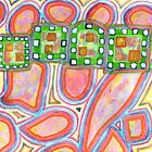 Green Band over Red Cells  by Heidi Capitaine
