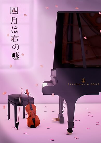 Piano & Violin a love story - Your lie in April by Alvarito4X93