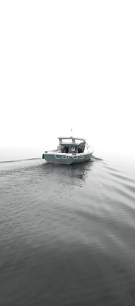 Boat In Fog by Cards