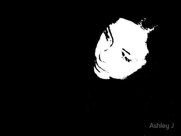 a face in the dark by Ashley J