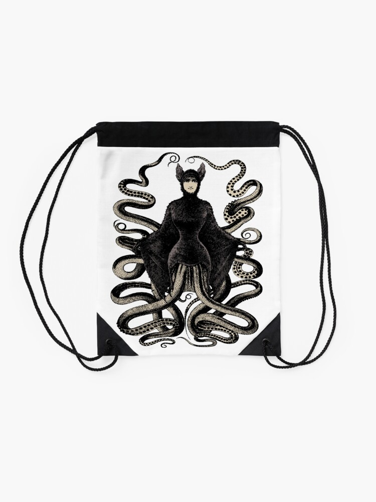 5b0889f3a78a The Victorian Octopus Bat Woman | Drawstring Bag