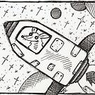 Spaceship by nightsparklies