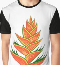 Heliconia flower Graphic T-Shirt