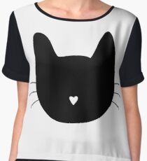 Cat Heart Nose Women's Chiffon Top