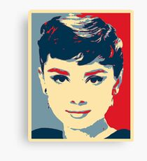 Audrey Hepburn Hope Canvas Print