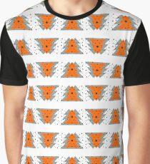 Winterbäume mit Schneeflocken Muster Graphic T-Shirt