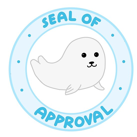 Image result for seal of approval