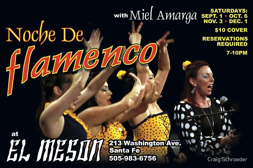 Flamenco Postcard #1 for Miel Amarga  by Craig Schroeder