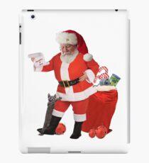Vinilo o funda para iPad Gatito aferrarse a Santa como Santa busca su nombre