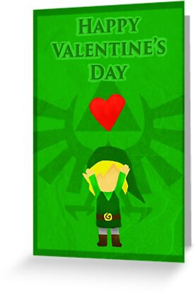 Legend Of Zelda Valentines Day Card Greeting Cards By Nicole Mule