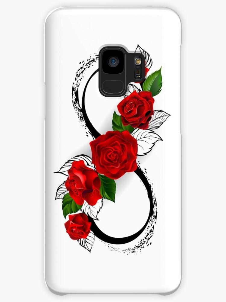 Infinity Symbol With Red Roses Cases Skins For Samsung Galaxy By
