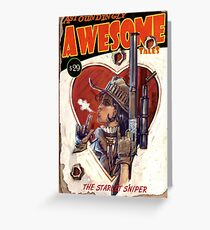 Astoundingly Awesome Tales: The Starlet Sniper Fallout 4 Poster Greeting Card
