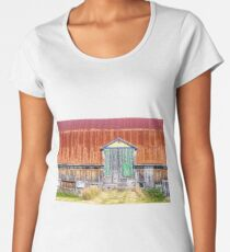 Old colorful barn Women's Premium T-Shirt