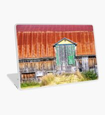 Old colorful barn Laptop Skin