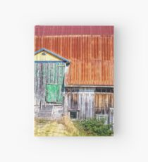 Old colorful barn Hardcover Journal
