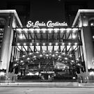 Saint Louis Cardinals Busch Stadium - Black and White by Gregory Ballos