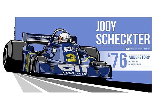 Jody Scheckter - 1976 Anderstorp by Evan DeCiren
