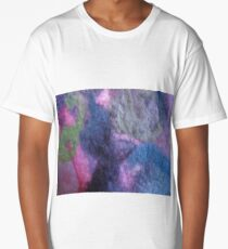 Warm blue pink wool mosaic II Long T-Shirt