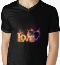 Fire love Men's V-Neck T-Shirt
