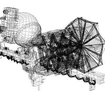 Lightspeed Spaceship by FrogFaith