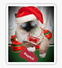 Ragdoll Cat  Christmas Designs Sticker