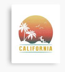 California Vintage Retro 70s Surf Canvas Print