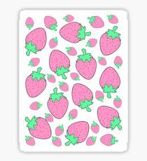 Pink Strawberries Sticker