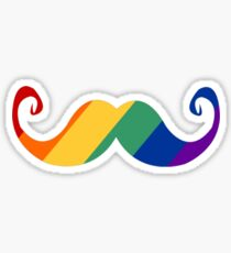 Rainbow Moustache Sticker