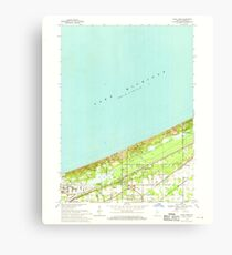 USGS TOPO Map Indiana IN Dune Acres 156424 1968 24000 Canvas Print