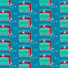 Television (aqua lightning) by wallpaperfiles