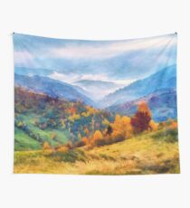 Autumn in the mountains Wall Tapestry