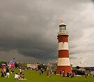 Lighthouse in a Strom by DonDavisUK