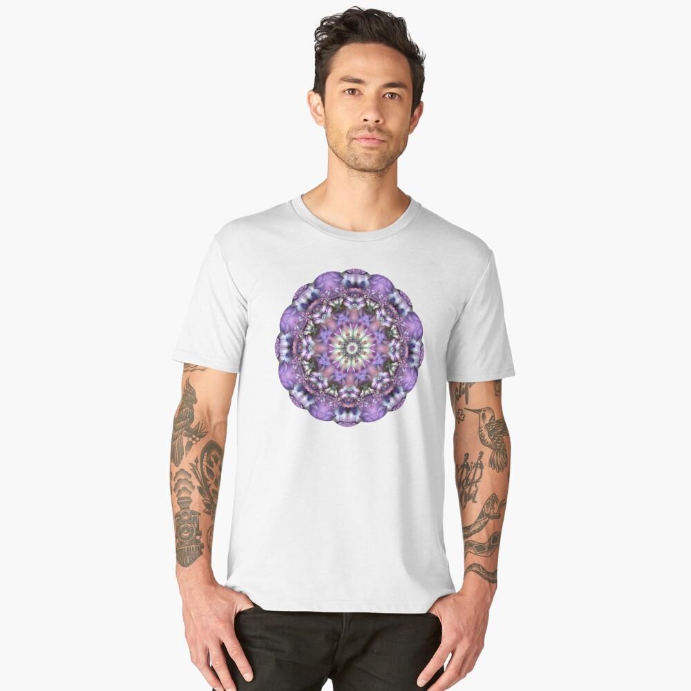 Lilac Mandala Men's Premium T-Shirt Front