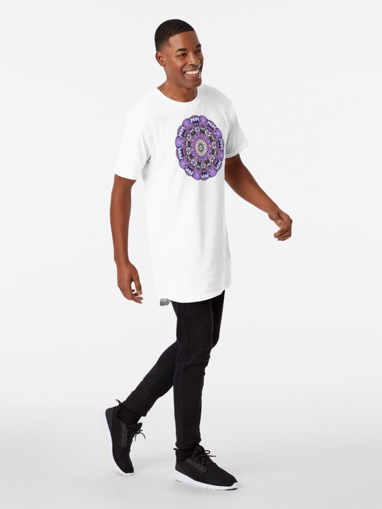 Alternate view of Lilac Mandala Long T-Shirt