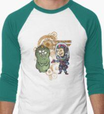 SpaceKid and Nestor Blobington of Planet Blobopolis Men's Baseball ¾ T-Shirt