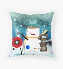 Aurora Australis Christmas Whimsical Stars Throw Pillow