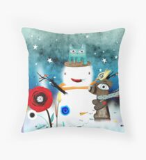 Aurora Australis Christmas Whimsical Stars Floor Pillow