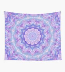 Purple Flower Mandala Wall Tapestry