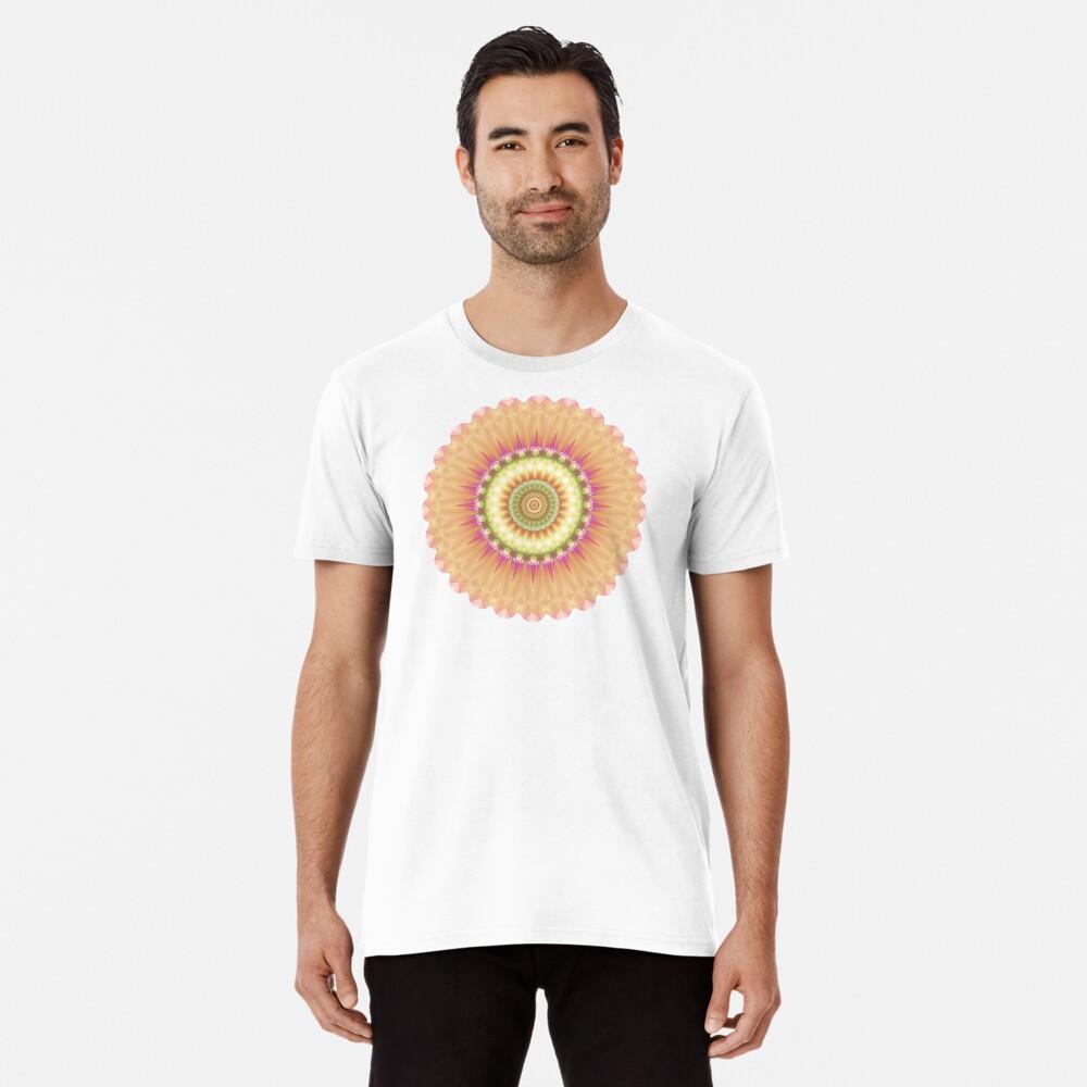 Beauty Mandala 01 in Pink, Yellow, Green and White Premium T-Shirt