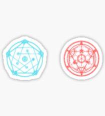 Fullmetal Alchemist Circle Stickers Redbubble