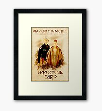 Wynonna Earp - Western Style Cast Poster #11 (WayHaught Special) Framed Print