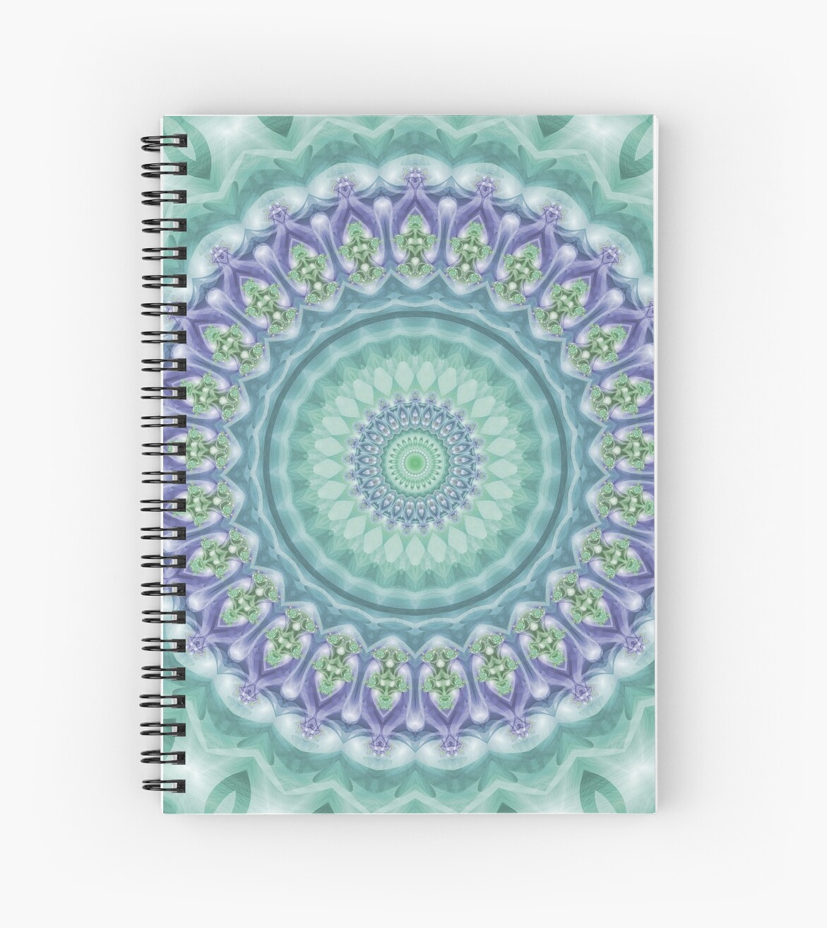 Bright Green and Purple Mandala of Balance by Kelly Dietrich